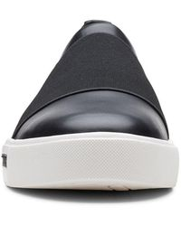Clarks Un Maui Step Womens Slip On Sports Shoes - Black