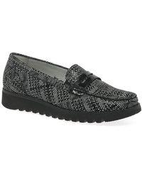Waldläufer Sona Womens Moccasins Women's Boat Shoes In Black