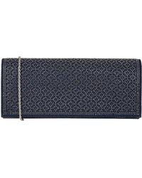 Lotus Tadine Womens Diamante Clutch Bag - Blue