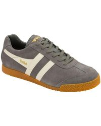 Gola Harrier Suede Mens Trainers - Grey