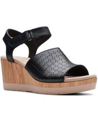 858484811865 Clarks - Cammy Glory Womens Wedge Heel Sandals - Lyst