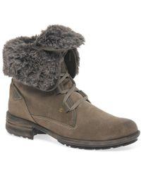Josef Seibel Sandra 04 Fur Lined Womens Ankle Boots - Gray