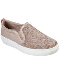 Skechers Goldie High Key Womens Embellished Slip On Shoes - Multicolour