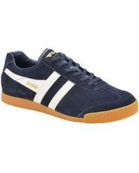Gola Harrier Suede Mens Trainers - Blue