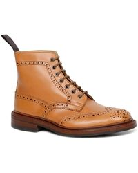 Tricker's Stow 5634/24 Dainite Mens Derby Brogue Boots - Brown
