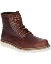 Caterpillar Chronicle Mens Premium Leather Lace Up Boots - Brown