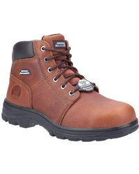 Skechers Workshire Mens Safety Boots - Brown