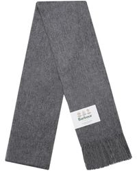 Barbour Plain Lambswool Scarf - Grey