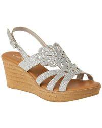 Lotus Ludisa Womens Wedge Heel Sandals - Metallic