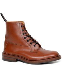 Tricker's Burford 5635/5 Dainite Mens Derby Boots - Brown