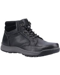 Hush Puppies Grover Mens Lace Up Boots - Black