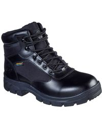 Skechers Wascana Benen Wp Tactical Mens Safety Boots - Black