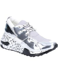 Steve Madden Cliff Silver Trainers Trainers Uk 7 - Metallic