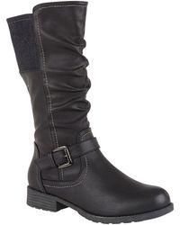 Lotus Adriana Womens Knee High Boots - Black