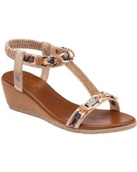 Lotus - Neve Womens Wedge Sandals - Lyst