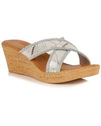 Lotus | Arika Womens Wedge Heel Sandals | Lyst