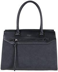 David Jones - Noel Womens Classic Synthetic Suede Panel Grab Bag - Lyst