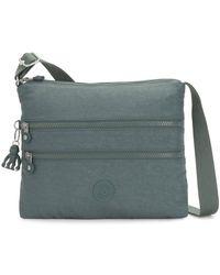 Kipling Alvar Womens Nylon Messenger Cross Body Handbag - Green