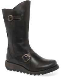 Fly London Mes 2 Womens Calf Length Boots - Brown