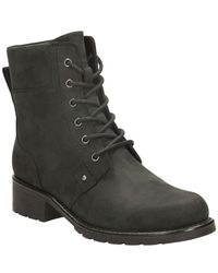 Clarks Orinoco Spice Wide Womens Lace Zip Military Boots - Black
