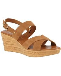 Lotus Angelica Womens Wedge Shoes - Brown