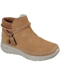 Skechers On-the-go Joy Allure Womens Ankle Boots - Brown