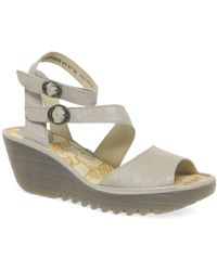 Fly London - Yisk Womens Wedge Heel Sandals - Lyst