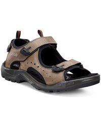 Ecco Trail Mens Casual Sandals - Black