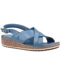 Hush Puppies Elena Womens Wedge Sandals - Blue