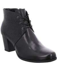 Gerry Weber Louanne 17 Womens Leather Victorian Lace Up Ankle Boots - Black
