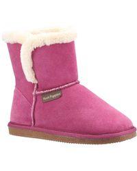 Hush Puppies Ashleigh Womens Slipper Boots - Pink