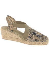 Toni Pons Terra Womens Wedge Heel Espadrille Sandals - Multicolour