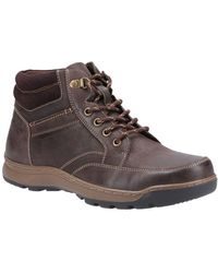 Hush Puppies Grover Mens Lace Up Boots - Brown