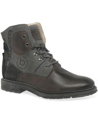 Men In Mens Shake Leather Lace Boots Bugatti Brown Up For RjAq4LSc35