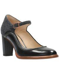 Clarks Ellis Mae Womens Dress Mary Jane Shoes - Black