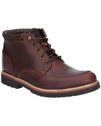Rockport Marshall Rugged Mens Moccasin Toe Shoes - Brown