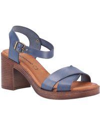 Hush Puppies Georgia Womens Heeled Sandals - Blue
