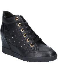 Geox Carum Womens Wedge Heel Ankle Boots - Black