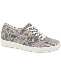 Ecco Soft 7 Lace Up Womens Shoes - Black