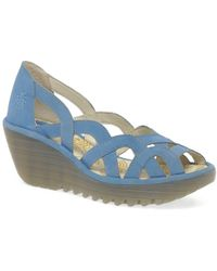 Fly London - Yadi Womens Wedge Heel Sandals - Lyst