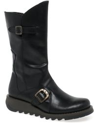 Fly London 'mes 2' Calf Length Boots - Black