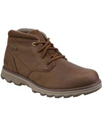 Caterpillar Elude Waterproof Mens Lace-up Boot - Brown