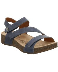 Josef Seibel Tonga 25 Womens Leather Sandals Women's Sandals In Blue