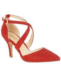 Lotus - Star Womens Diamante Strappy Court Shoe - Lyst