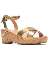 Hush Puppies Maya Qaurter Strap Womens Wedge Sandals - Metallic