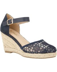 Lotus Eartha Womens Wedge Heel Espadrilles Women's Espadrilles / Casual Shoes In Blue