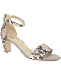 Gabor Unicorn Womens High Heeled Sandals - Natural