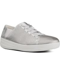 Fitflop - F-sporty Womens Metallic Lace Up Trainers - Lyst