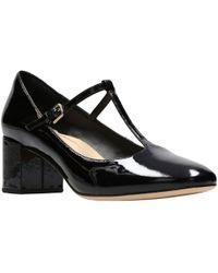 Clarks - Orabella Fern Womens Wide T-bar Court Shoe - Lyst