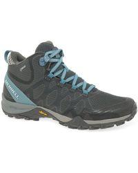 Merrell Siren 3 Mid Gtx Womens Walking Boots - Blue